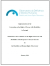 Responses to the 'List of Issues' concerning the implementation of the CRPD in Portugal